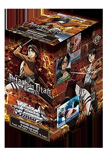 Attack On Titan Karte.Weiss Schwarz Boosterpackung Attack On Titan Enthält 8 Karten Englische Version