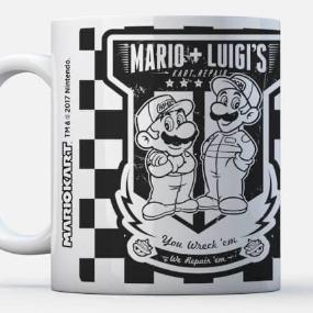 Mario and Luigi Cart Repair - Super Mario Tasse - THG Nintendo Collection