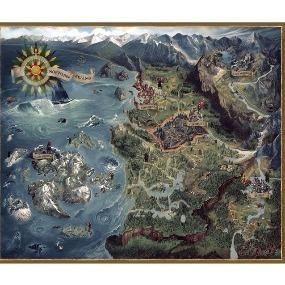 The Witcher Karte.Karte Der Nordlichen Konigreiche Witcher 3 Puzzle 1000 Teile