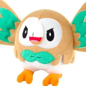 Rowlet Pokemon Plush Figure Tomy English