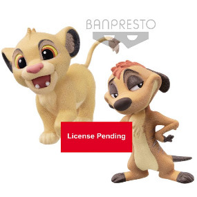 Simba Timon The Lion King Disney Fluffy Puffy 2 Pack