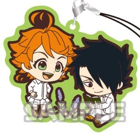 Emma and Ray - The promised Neverland Rubber Strap Duo