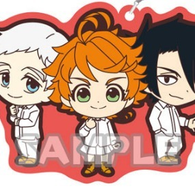 Emma, Norman and Ray - The promised Neverland Rubber Strap Duo