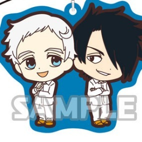 Norman and Ray - The promised Neverland Rubber Strap Duo
