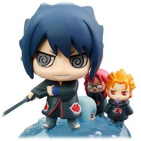 Sasuke With Mini Juugo Karin And Suigetsu Team Taka