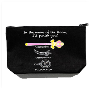 Sailor Moon- black pouch - Spiral Heart Moon Rod