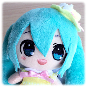 Hatsune Miku Spring Time (B) - Hat and open eyes - Taito Plush Strap