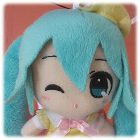 Hatsune Miku Spring Time (C) - Hat and winking expression - Taito Plush Strap