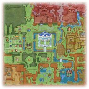 Weltkarte - Decke - Legend of Zelda - A Link between Worlds